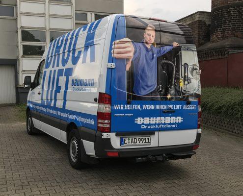 Fahrzeugbeschriftung Daumann Druckluftdienst